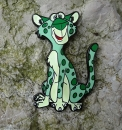Edward the Leopard Geocoin - Glow i.t.d. LE 60