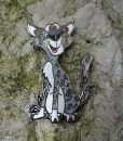Edward the Leopard Geocoin - Silber LE 60