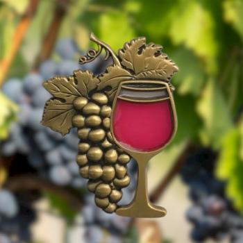 IN VINO VERITAS Geocoin - red wine