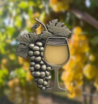 IN VINO VERITAS Geocoin - white wine