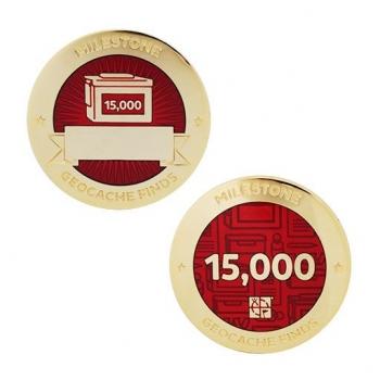 Milestone Geocoin und Tag Set - 15.000 Finds
