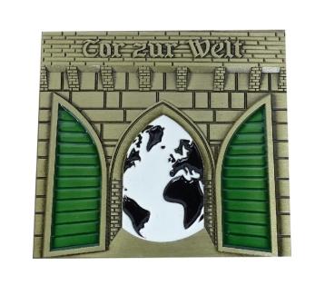 Tor zur Welt Geocoin - Antik Bronze