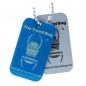 Preview: Geocaching QR Travel Bug® - Blau / Glow in the Dark