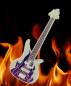 Mobile Preview: Fire-Rock Guitar Geocoin - Satin Silber