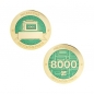 Preview: Milestone Geocoin und Tag Set - 8000 Finds