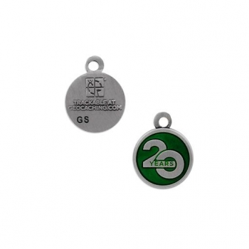 Celebrating 20 Years of Geocaching Nano Charm Geocoin
