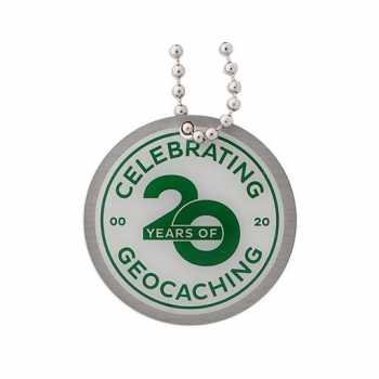 Celebrating 20 Years of Geocaching Travel Tag