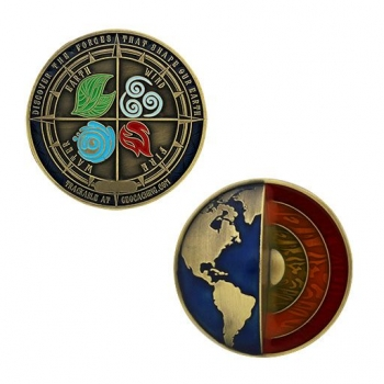 Four Elements Geocoin - Antik Gold