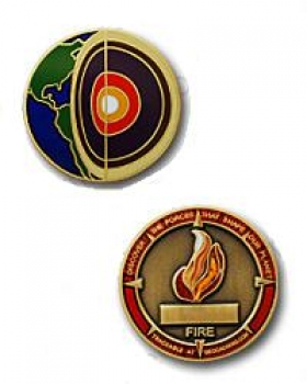 Four Elements Fire Micro-Geocoin
