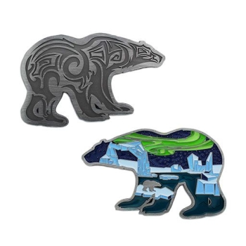 Polar Lights Geocoin - Antik Nickel