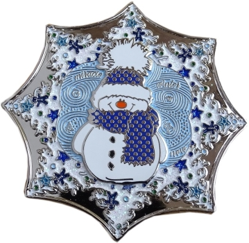 Winter Fun Geocoin - Nickel