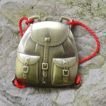 Backbag Geocoin - Antik Bronze