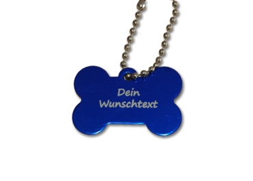 Trackable Dog Tag Bone with individal text
