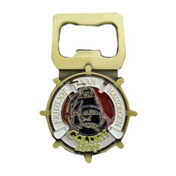 Golden Hint Bottle Opener Geocoin - Arabian Sea