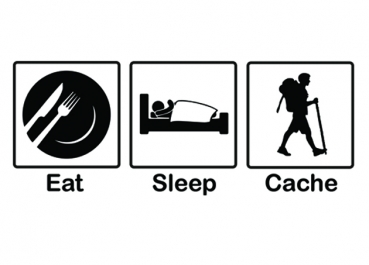 T-Shirt - Eat, Sleep, Cache