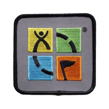 Geocaching Patch - Vier Farben