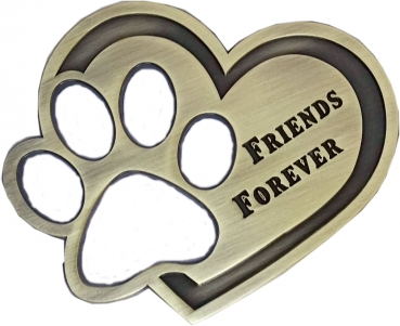 Friends Forever Geocoin - Antique Bronze