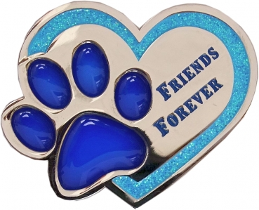 Friends Forever Geocoin - Nickel / Blue