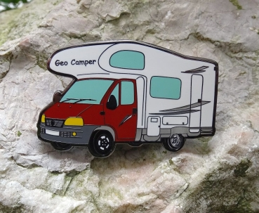 Geo Camper on Tour Geocoin - rot