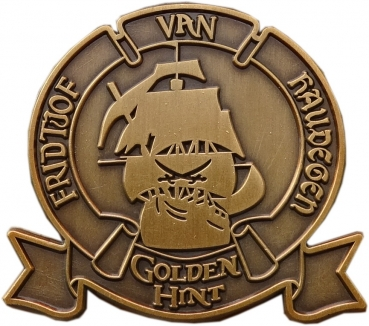 Crew of Golden Hint Geocoin - Bottle of Rum