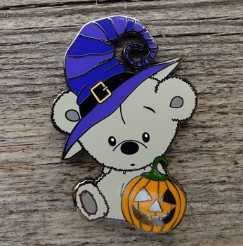 Halloween Teddy Geocoin XLE 50 - purple