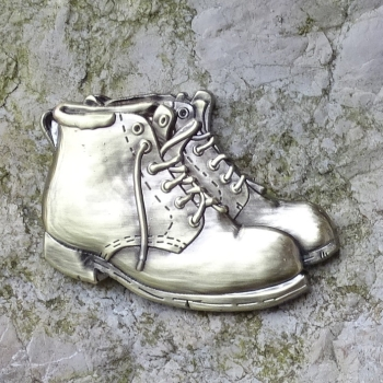 Hiking Boots Geocoin - Antik Bronze