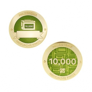 Milestone Geocoin und Tag Set - 10.000 Finds