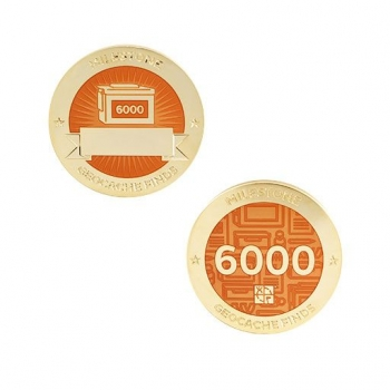 Milestone Geocoin und Tag Set - 6000 Finds