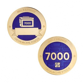 Milestone Geocoin und Tag Set - 7000 Finds
