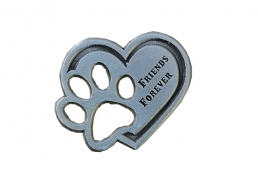 Friends Forever Pin - Antik Silber