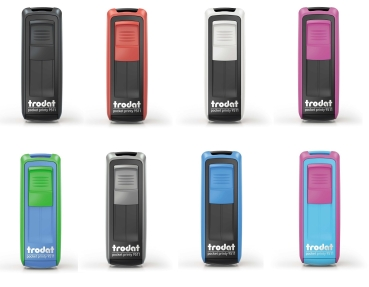 Trodat pocket printy stamp, 38x14mm in 8 colors