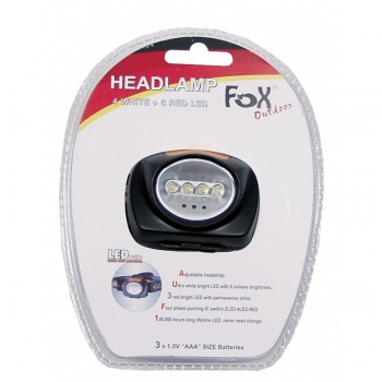 4 LED Head Lamp - black
