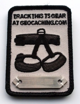 Trackable T5 GeoCaching Patch - Gray