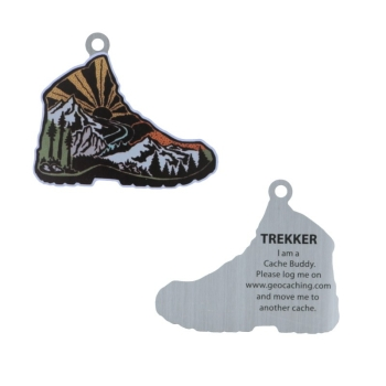 Trekker the Hiking Boot Travel Tag