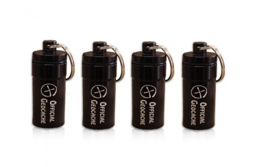 Micro Tube-Geocache - black (set of 4)