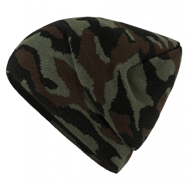 Camouflage Beanie - Olive/brown