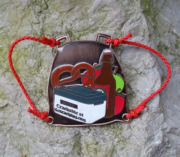 Backbag Geocoin - Antik Kupfer