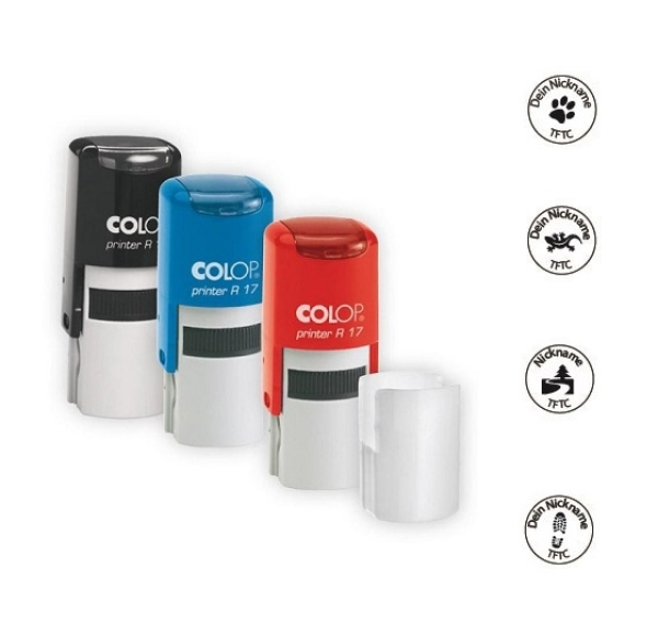 Colop Geocaching Stempel, rund - 17mm