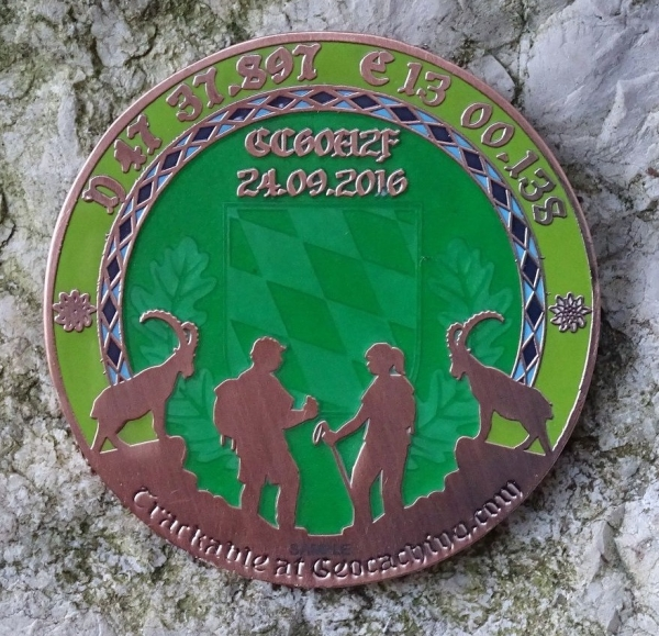 Geocoinfest Europe 2016 Event-Coin - Antique Copper