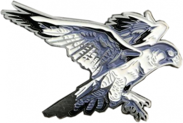 Spirit of Hawks Geocoin - antik silber