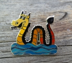 Nessie Pin - yellow
