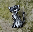Edward the Leopard Pin - Silber